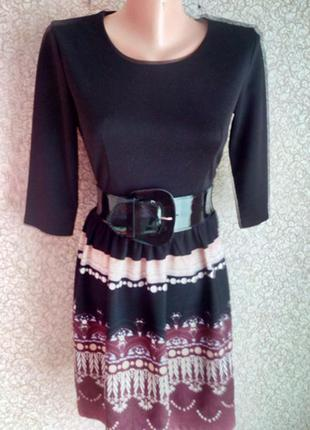 Платье 3/4 рукав французский трикотаж. размер 42-46.