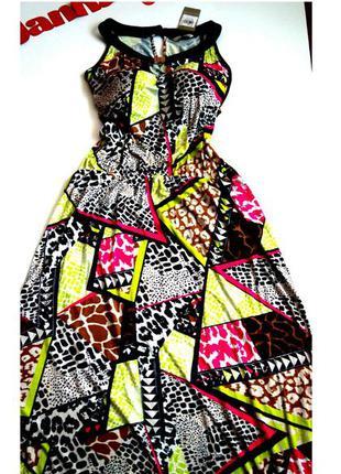 Платье сарафан принт 52 54 размер макси бюстье топ скидка sale новое