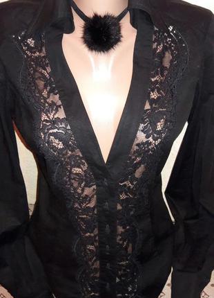 Рубашка гипюр кружево gianfranco ferre италия