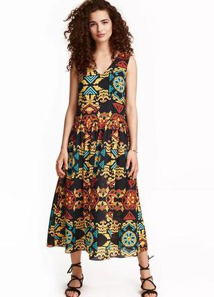 Красивое летнее платье миди от h&m