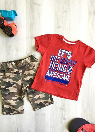 Набор на 3-4 года, футболка, майка, шорты, rebel, next