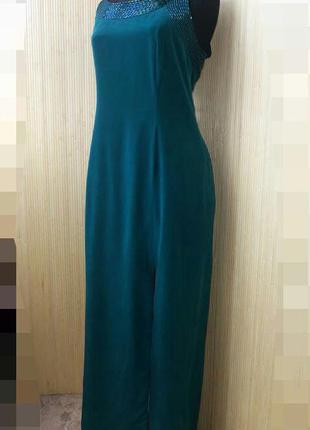Вечернее платье футляр натуральный шелк расшитое стеклярусом l/xl