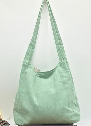 Летняя текстильная сумка. светло-зеленый