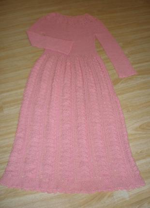 Платье вязаное длинное в пол