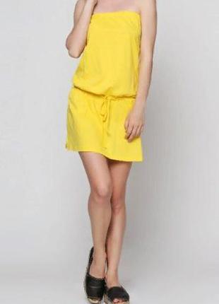 Яркое солнечное платье с пояском. полная распродажа на летний ассортимент!!!