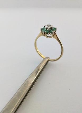 Старинное кольцо, англия, диамант, золото 375 проба