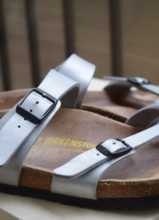 Кожаные ортопедические шлепанцы тапки шлепки birkenstock германия р.41 27см