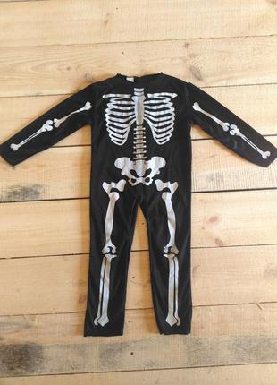 Карнавальный костюм скелет кощей 3 5 лет на хэллоуин продажа