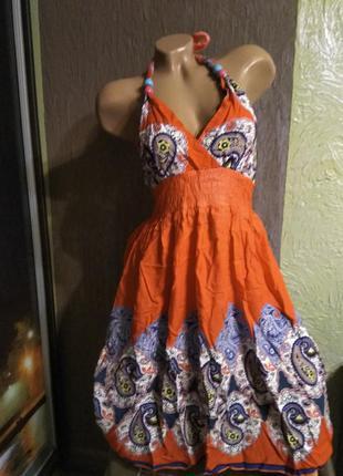Пляжный сарафанчик, платье цветочное