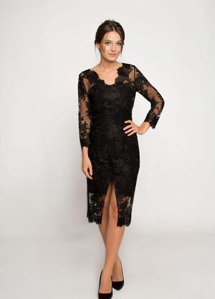 Вечернее платье с кружевом ganveri