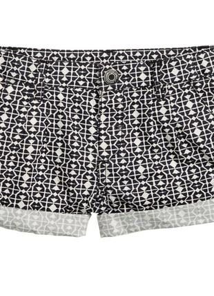 Новые шорты для девочки черно-белые, h&m, 0343315006
