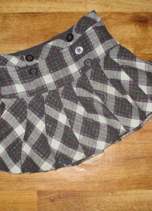 Красивая и стильная юбка от h&m на подкладе, рост 116 см