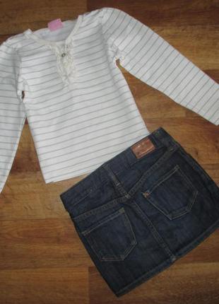 Комплект, набор: реглан и джинсовая юбка h&m, рост 104 см