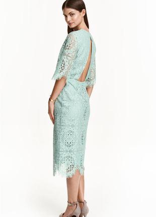 Кружевное , платье миди