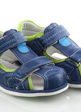 Кожаные ортопедические босоножки для мальчика clibee детские сандали шлепанцы туфли летняя
