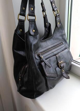 Кожаная сумка marks & spencer