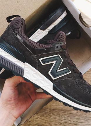 Мужские кроссовки темно-коричневые