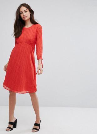 Скидка!потрясающее стильное трендовое актуальное платье миди в горошек горох 2018