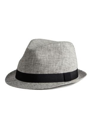 Шляпа н&м универсальная классика классическая котелок плетеная соломенная летняя