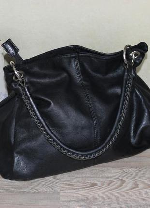 32х40см vera pelle кожаная сумка на короткой ручке на три отделения