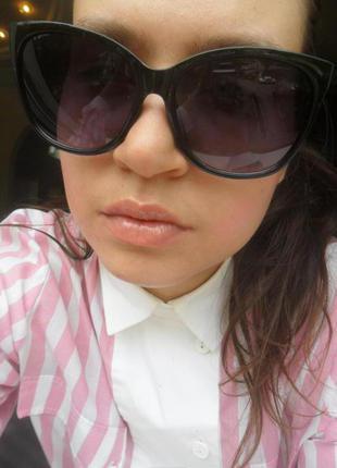 Крутые стильные квадратные очки с резьбой сбоку 3 кагегория защиты от солнца