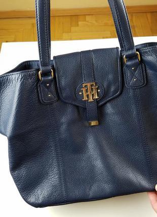 Оригинальная кожанная сумка tommy hilfiger