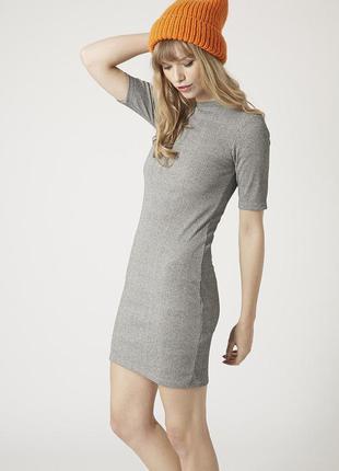 Базовое платье в рубчик topshop