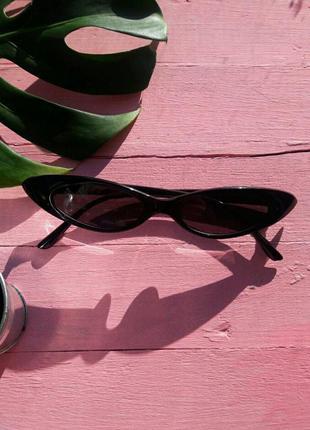 Солнцезащитные очки в стиле ретро винтаж мини узкие