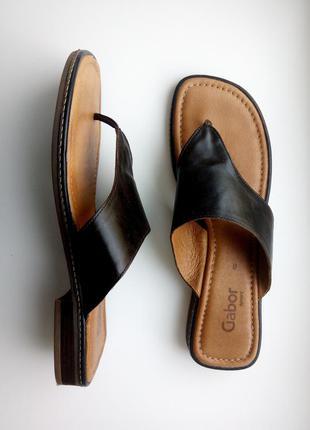 Шлепанцы кожаные немецкий бренд gabor.