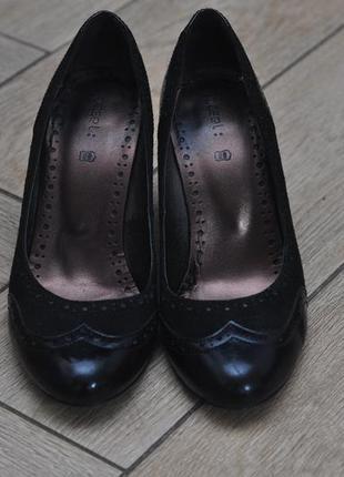 Туфли из натуральной кожи и натуральной замши, 38 размер