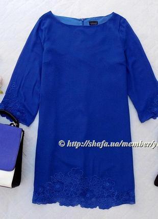 Легкое платье с кружевной вышивкой topshop, размер 14 (см. замеры)