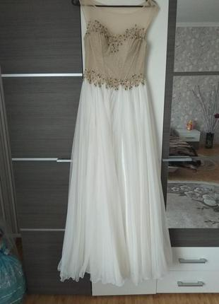 Супер длинное платье