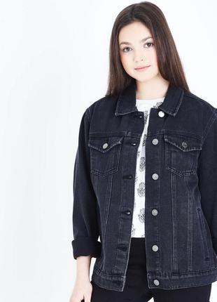 Черная джинсовая куртка denim&co🖤