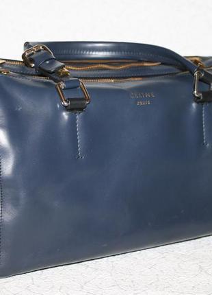 Оригинальная кожаная сумка celine made in italy