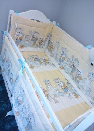 Бортики в кроватку мишки тедди