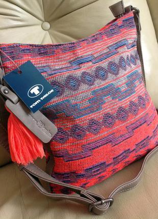 Стильная летняя сумка на плечо – tom tailor – новая