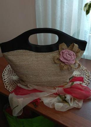 Милейшая сумочка из натуральной соломки