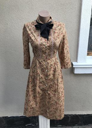 Винтажные платье-халат в цветочный принт,отделка кружево,брендовое,эксклюзив