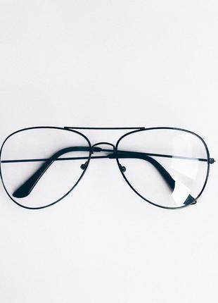 Очки оправа черная