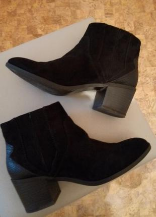 Стильные деми ботинки бершка 38 ой на 24,5- 25 см в носке пару раз