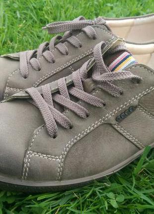 Ecco туфли кроссовки 39р . оригинал. ботинки кожаные. слипоны