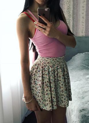 Цветочная юбка на талию солнцеклеш