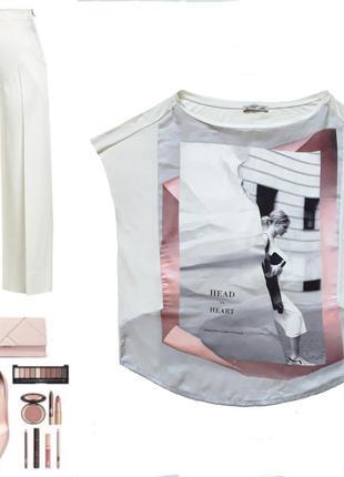 Стильная блузочка с модным принтом от zara