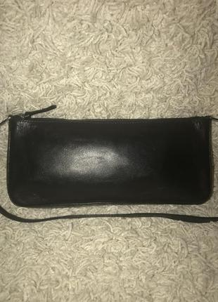 Кожаная сумка- клач- косметичка accessorize