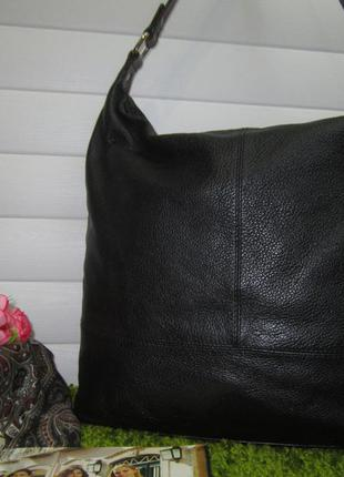 Брендовая кожаная сумка английского бренда marks & spencer нат. кожа