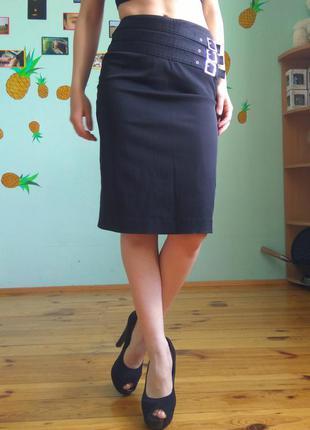 Классическая черная юбка. офисная юбка. строгая.