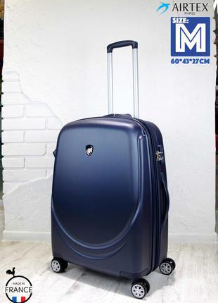 Качество! средний чемодан из поликарбоната airtex франция середня валіза полікарбонат