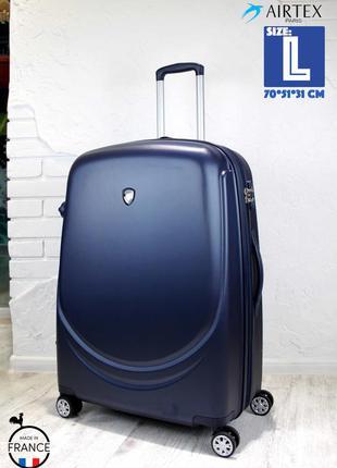 Качество! большой чемодан из поликарбоната airtex франция велика валіза полікарбонат