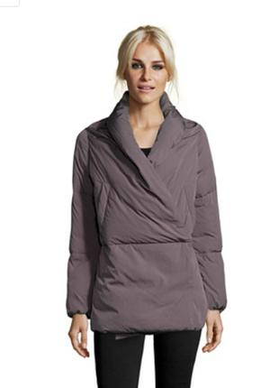 100% пух. ультрамодный пуховик-кимоно add куртка, италия it46. одеяло