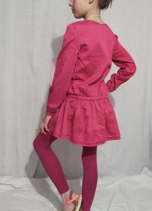 Платье-туника из натурального хлопка, 8-9 лет2